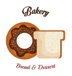 Bakery product always fresh vector