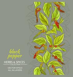 Black ground pepper background vector