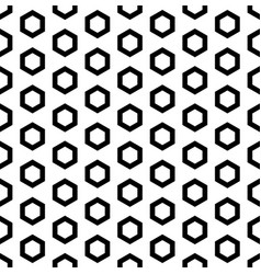 Black outline hexagons seamless pattern vector
