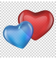 blue and red heart Valentine day vector image