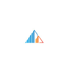 Building line geometry architecture logo vector