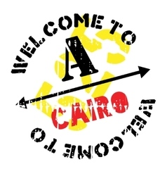 Cairo stamp rubber grunge vector