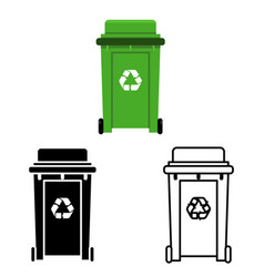 cans trash garbage separation recycling isolated vector image