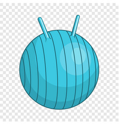 Children fitball icon cartoon style vector