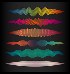 collection of wave line design elements vector image