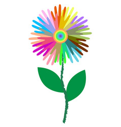 Colorful icons peoples hands like flower vector