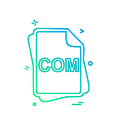 com file type icon design vector image