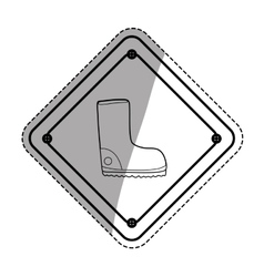 Construction road sign vector
