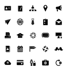 Contact connection icons on white background vector