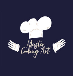 cook concept isolated on dark background master vector image