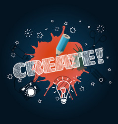 create concept template for a text vector image