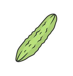 Cucumber color icon vector
