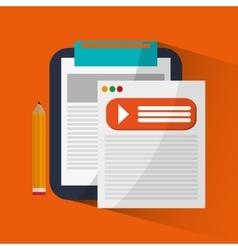 Document and digital marketing design vector