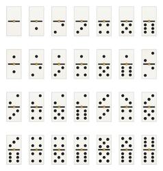 Domino tabs vector
