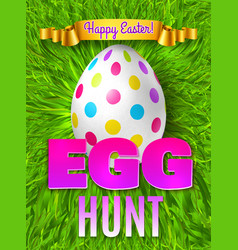 Egg hunt poster composition vector