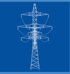Electric pylons or electric towers concept vector