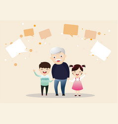 family character vector image