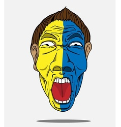 football fan from sweden vector image