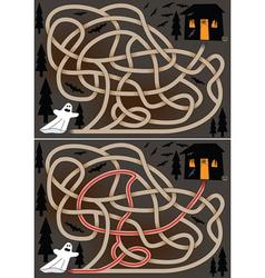 Ghost maze vector