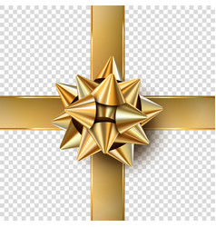 gold bow gift vector image