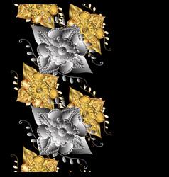 Gold on black background decorative symmetry vector