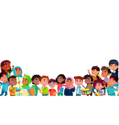 Group of mulicultural smiling children vector