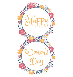 happy women day holiday greeting card design vector image