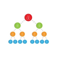 Hierarchy vector image