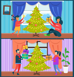 home celebration collection vector image