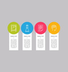 infographic elements collection vector image