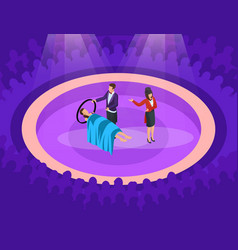 Isometric magic show concept vector