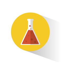 laboratory flask science school vector image