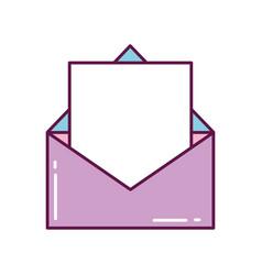 mail letter open envelope message vector image