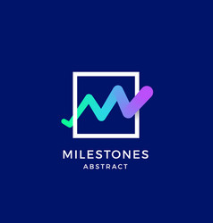 milestones line monogram abstract blend vector image