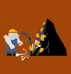 mining bitcoin minir extraction crypto currency vector image