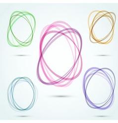 Modern transparent vortex design elements vector image