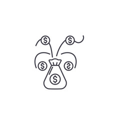 money tree line icon sign on vector image