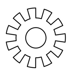 Monochrome silhouette of pinions model one vector