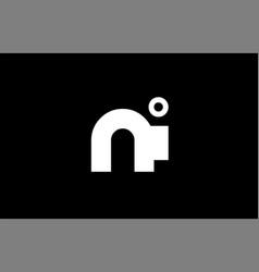 ni n i black white boldpink blue joint letter logo vector image vector image