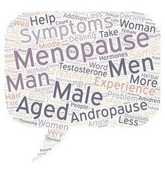 OVERVIEW OF MALE MENOPAUSE text background vector