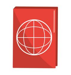Passport holder cartoon vector