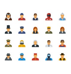 people professions and occupations icon set in vector image
