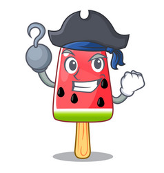 Pirate summer watermelon the ice shaped cartoon vector
