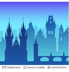 Prague famous city scape vector