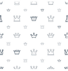 Queen icons pattern seamless white background vector