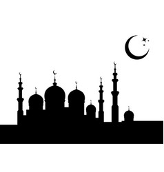 ramadan kareem banner template islamic mosque vector image