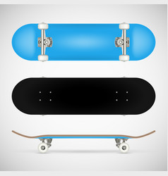 Realistic skateboard template vector