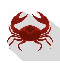 Red sea crab icon flat style vector