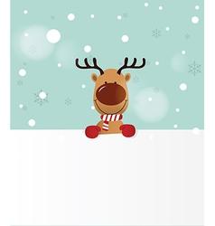 Reindeer holding Board vector image