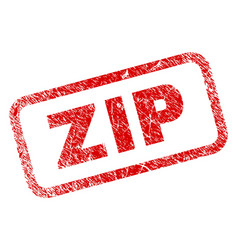 Scratched zip rounded rectangle stamp vector